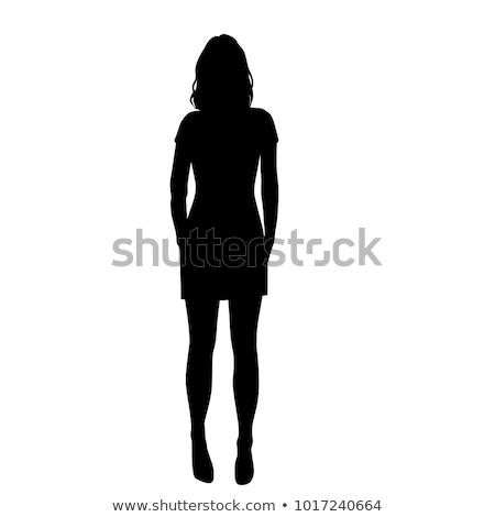 Danser vrouw silhouet eps 10 vrouwen Stockfoto © Istanbul2009