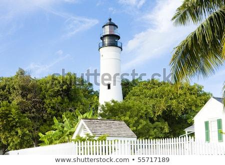 deniz · feneri · anahtar · batı · Florida · güzel · gökyüzü - stok fotoğraf © meinzahn