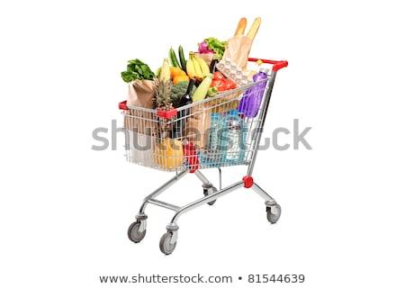 Brócolis carrinho de compras peças cromo compras armazenar Foto stock © kimmit