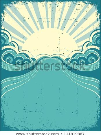 Vintage cartaz textura quadro espaço silhueta Foto stock © natika