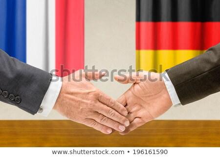 França Alemanha apertar a mão negócio mãos sucesso Foto stock © Zerbor