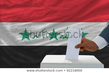 Irak · zászló · térkép · vidék · forma - stock fotó © ustofre9