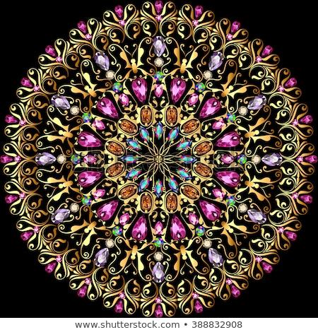 золото цветочный структур драгоценный камней Сток-фото © yurkina