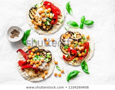 Tortilla sebze Meksika çatal bıçak Stok fotoğraf © cosma