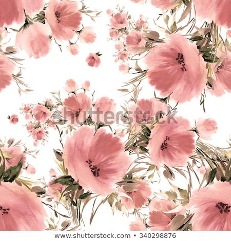 szett · négy · vektor · végtelenített · virágmintás · tavasz - stock fotó © -talex-
