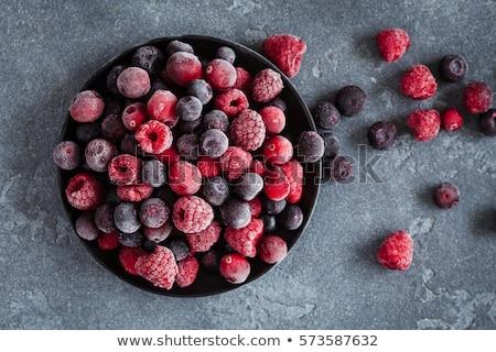 fagyott · bogyók · makró · kilátás · vörös · ribiszke · áfonya - stock fotó © gemenacom