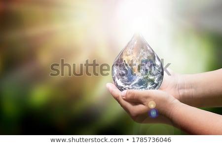 superfície · da · água · abstrato · ilustração · 3d · natureza · mar · verão - foto stock © spectral