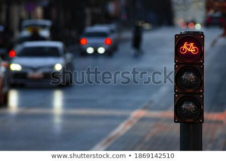 Bonus kırmızı yol işareti gökyüzü iş Stok fotoğraf © tashatuvango