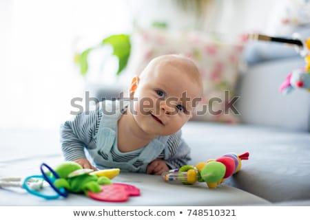 bebê · sorridente · nu · menina · nu - foto stock © elly_l