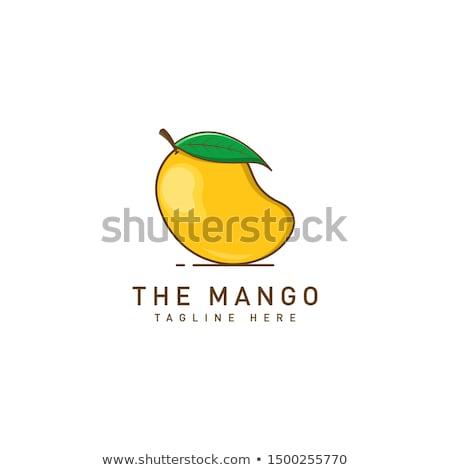 Mangó illustrator gyümölcs Stock fotó © suriya_aof9