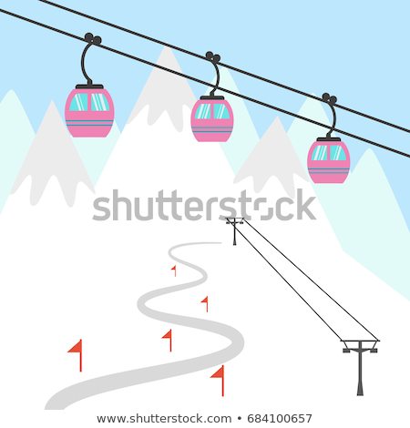 ski slopes with chairlifts stock photo © franky242