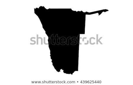 シルエット 地図 ナミビア にログイン 白 碑文 ストックフォト © mayboro