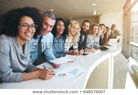 漂亮 僱員 肖像 工作的 夾 商業照片 © pressmaster