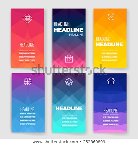 Infographic Design Template with modern flat style. Stock photo © DavidArts