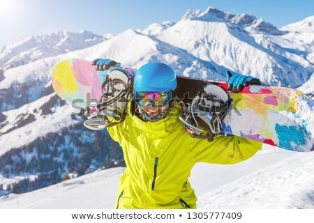jongeren · ski · alpine · berg · winter · resort - stockfoto © Kor