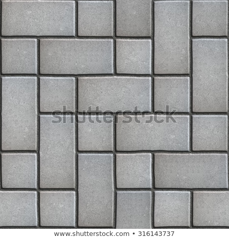 Gray Figured Paving Slabs which Imitates Natural Stone. Stock photo © tashatuvango