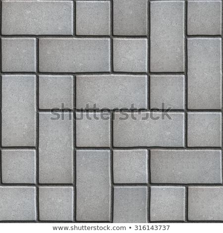gray figured paving slabs which imitates natural stone stock photo © tashatuvango