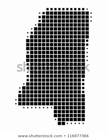 Map of USA Mississippi State with Dot Pattern Stock photo © Istanbul2009