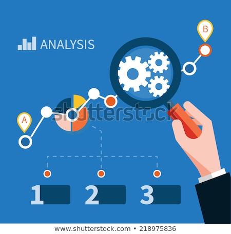 роста · диаграммы · увеличительное · стекло · точки - Сток-фото © robuart