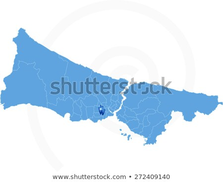 Istanbul Map with administrative districts where Gungoren is pul Stock photo © Istanbul2009