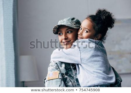 vrouwen · aanval · geweer · mooie · jonge · vrouwen - stockfoto © piedmontphoto