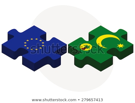 European Union and Cocos (Keeling) Islands Flags in puzzle  Stock photo © Istanbul2009