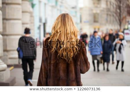 Jeunes modèle blond automne automne cute Photo stock © mettus