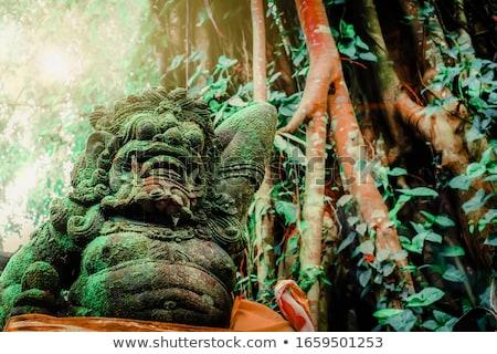 Templo guardião estátua wrestler cara amor Foto stock © smithore