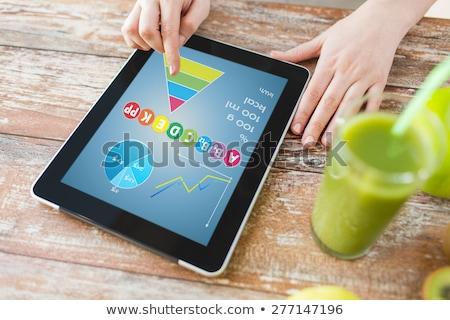 Stockfoto: Vrouw · handen · gezond · eten