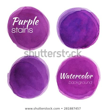 セット 水彩画 紫色 サークル 紙 テクスチャ ストックフォト © gladiolus