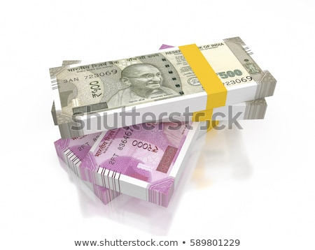 Indian argent groupe note objets nombre Photo stock © imagedb