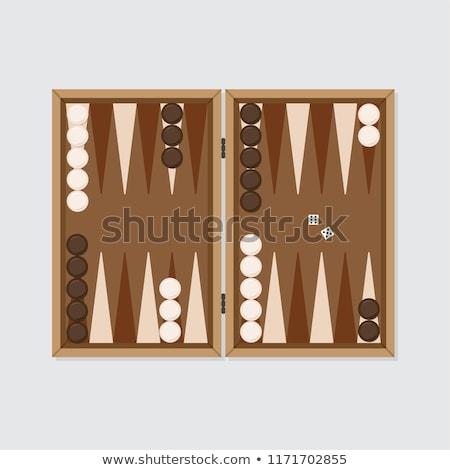 vista · dados · juego · piezas · familia · madera - foto stock © fuzzbones0