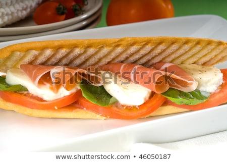 Panini caprese jamón sándwich frescos alimentos Foto stock © keko64