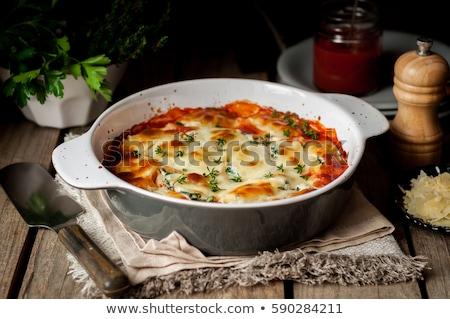 bloemkool · gebakken · ei · kaas · voedsel · groene - stockfoto © peredniankina