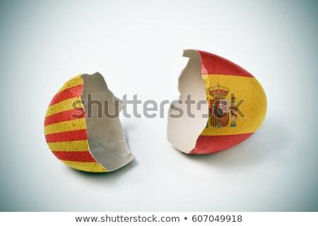 digital · gerado · mapa · Espanha · bandeira · cores - foto stock © georgejmclittle