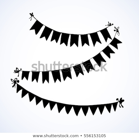 Bunting background. Engraving pennants. Stock photo © gladiolus