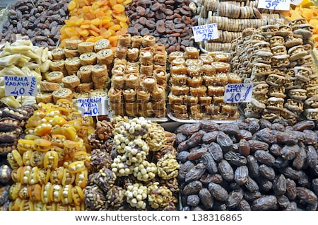 piles of candy at the grand bazaar stock photo © elxeneize