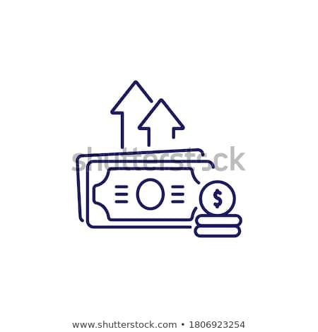 Költségvetés üzlet arany vektor ikon terv Stock fotó © rizwanali3d