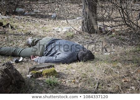 Cadáver blanco hoja suicidio asesinato naturales Foto stock © michaklootwijk