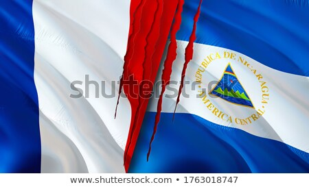 France and Nicaragua Flags  Stock photo © Istanbul2009