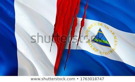 Франция Никарагуа флагами головоломки изолированный белый Сток-фото © Istanbul2009