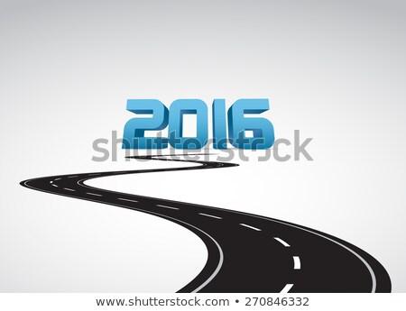 Orçamento ano 2016 mão marcador transparente Foto stock © ivelin