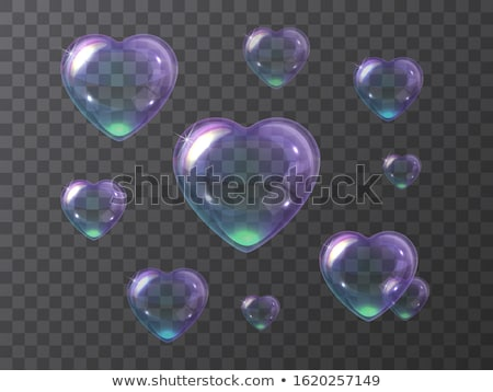 Bubble. Shape ball and heart Stock photo © orensila