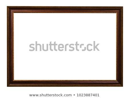 large · brun · cadre · photo · chemin · bois · vide - photo stock © suljo
