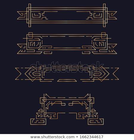 Vector geométrico lineal estilo marco art deco Foto stock © Fractal86