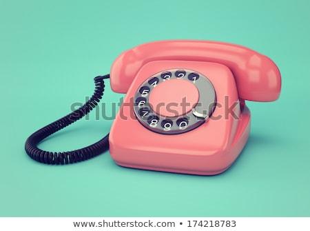 kéz · fehér · telefonkagyló · kábel · izolált · hálózat - stock fotó © michaklootwijk