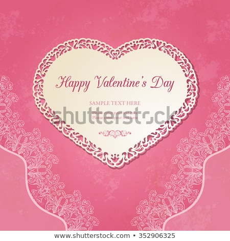 Stockfoto: Valentijnsdag · frame · eps · 10 · ingericht · rozen