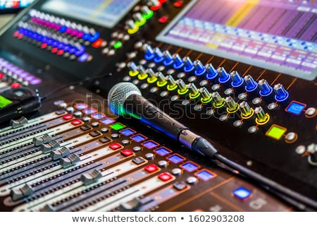 Detail of a Professional Mixing Console Stock photo © Kayco