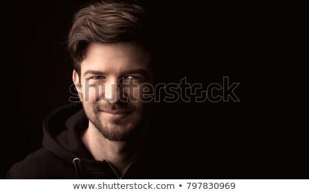 Dramatic low key portrait of adult male Stock photo © stevanovicigor