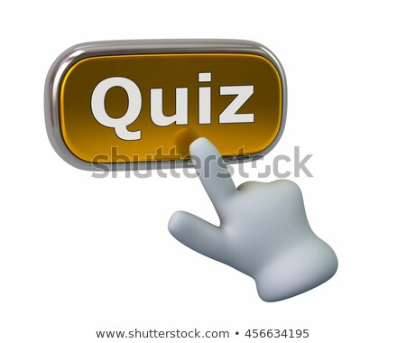 Hand Cursor Clicking Quiz Button Stock photo © ivelin